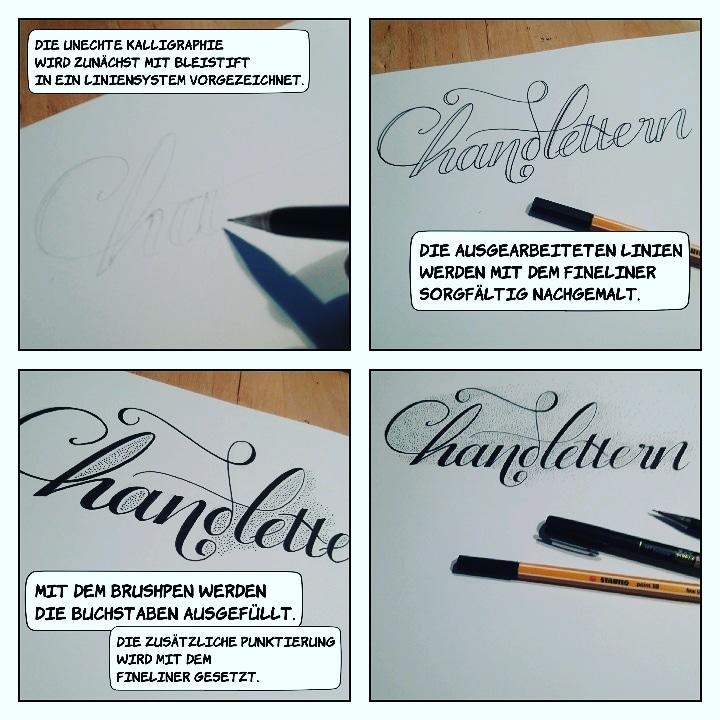 Anleitung für eine Faux Calligraphy